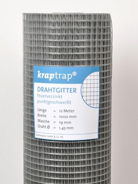 Kraptrap® Volierendraht Drahtgitter 19 mm Masche, 100 cm breit