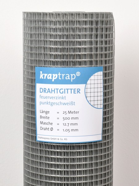 KrapTrap® Volierendraht Drahtgitter 12,7 mm Masche, 50 cm breit, 1,05mm Drahtstärke