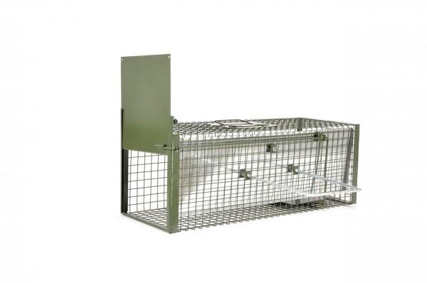 Kraptrap® Kombifalle, Katzenfalle, Impffalle ca. 77 x 28 x 28 cm mit integrieter Schiebevorrichtung
