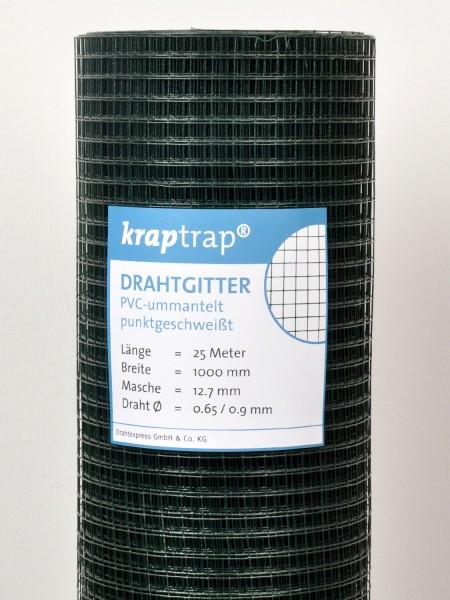 Kraptrap® Volierendraht Drahtgitter grün 12x12 25m