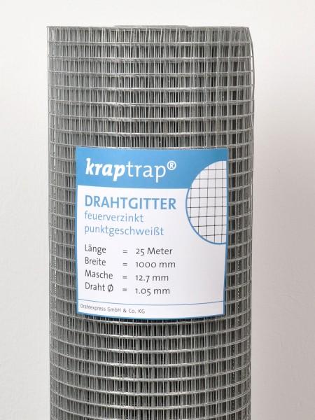 Kraptrap® Volierendraht Drahtgitter 12,7 mm Masche, 100 cm breit, 1,05mm Drahtstärke